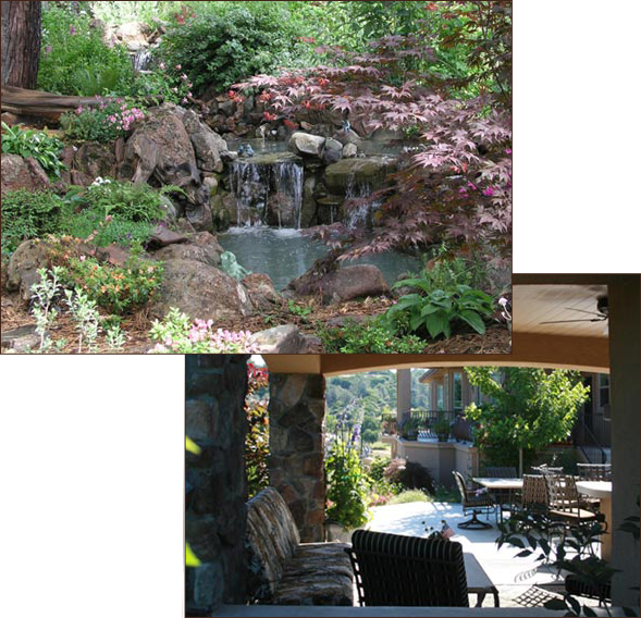 Water Feature & Outdoor Living Space